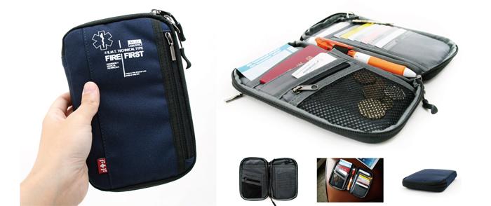 スターオブライフ FIRE FIRSTコラボ 旅行の必需品が1つにまとまるパスポートケース 身の回りの小物等の整理