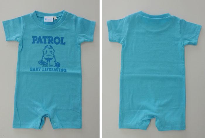 ブルー ベビーロンパース GUARD ガード ライフガード ライフセービング ウォーターパトロール 海 湘南 ベビー服 カバーオール こども 男の子 女の子 半袖 出産祝い 0歳児 新生児 お祝い 赤ちゃん かわいい