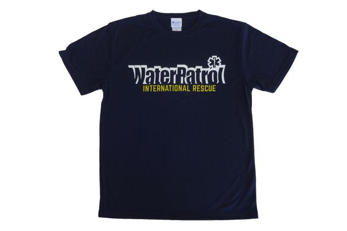 ネイビーTシャツフロントデザイン、ガード(海での監視業務)やウォーターパトロールにぴったり。