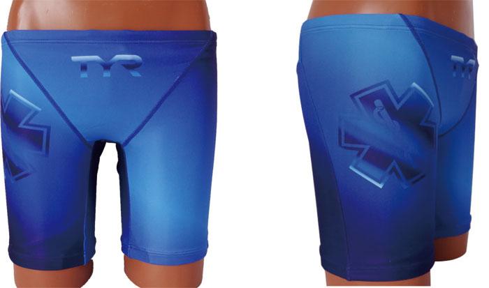 水着 メンズ 男性水着 メンズガードジャマー ハーフパンツ ライフセーバー オープンウォータースイム トライアスロン スポーツクラブ フィットネス GUARD ガード TYR ティア スターオブライフ STAR OF LIFE ブルー