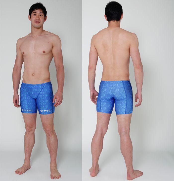 水着 メンズ 男性 ハーフパンツ メンズガードジャマー  ライフセーバー オープンウォーター トライアスロン スポーツクラブ フィットネス GUARD ガード TYR ティア スターオブライフ STAR OF LIFE ブルー