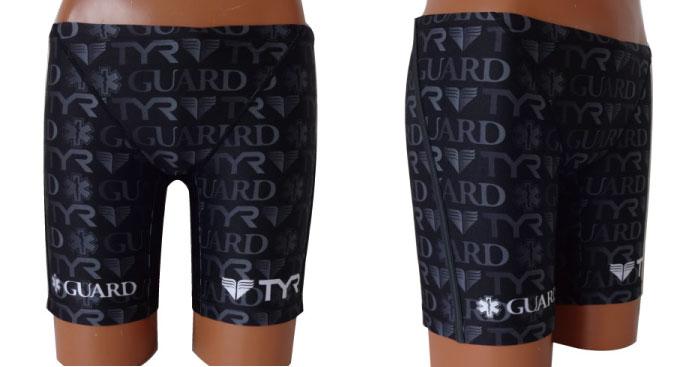 水着 メンズ 男性 ハーフパンツ メンズガードジャマー  ライフセーバー オープンウォーター トライアスロン スポーツクラブ フィットネス GUARD ガード TYR ティア スターオブライフ STAR OF LIFE ブラック
