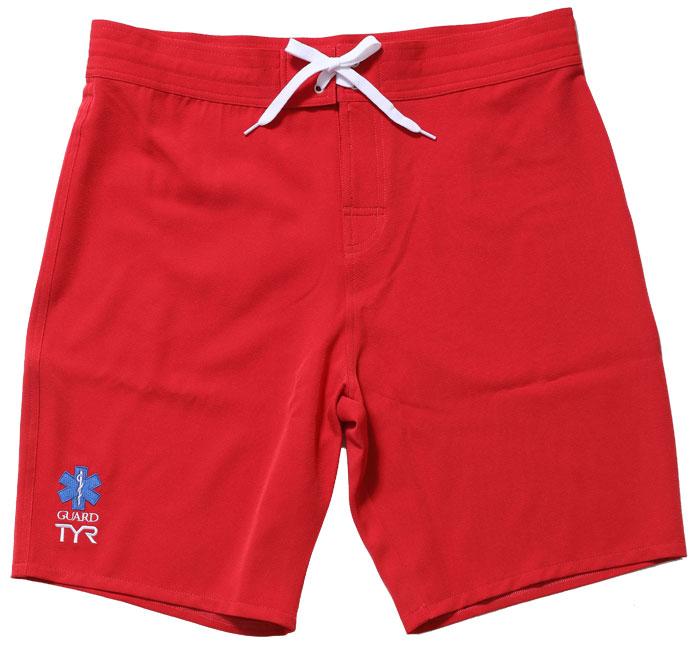 水着 メンズ 赤いサーフパンツ ガードパンツ ボードショーツ ライフガード ショートパンツ GUARD ガード TYR ティア スターオブライフ star of life