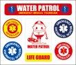 画像1: 【ネコポス対象商品】 16ミニシリーズステッカー WATER PATROL(ガードちゃん) (1)