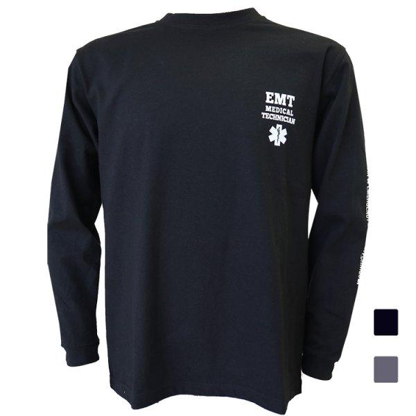 画像1: 長袖Tシャツ EMT&WATERPATROLデザイン LS-256 (1)