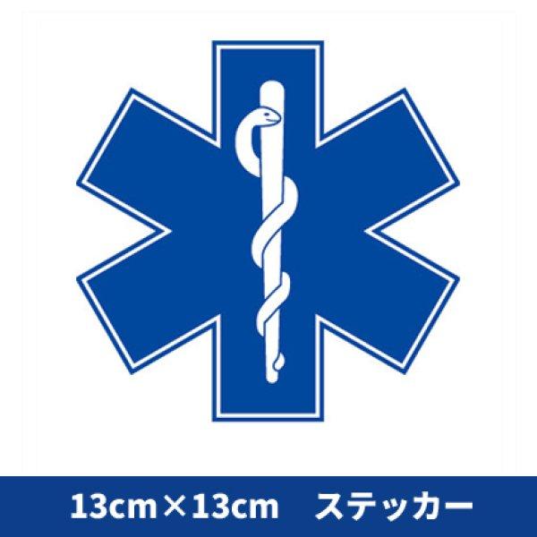画像1: 【13センチ角サイズ】スターオブライフ(13×13cm)ステッカー (1)