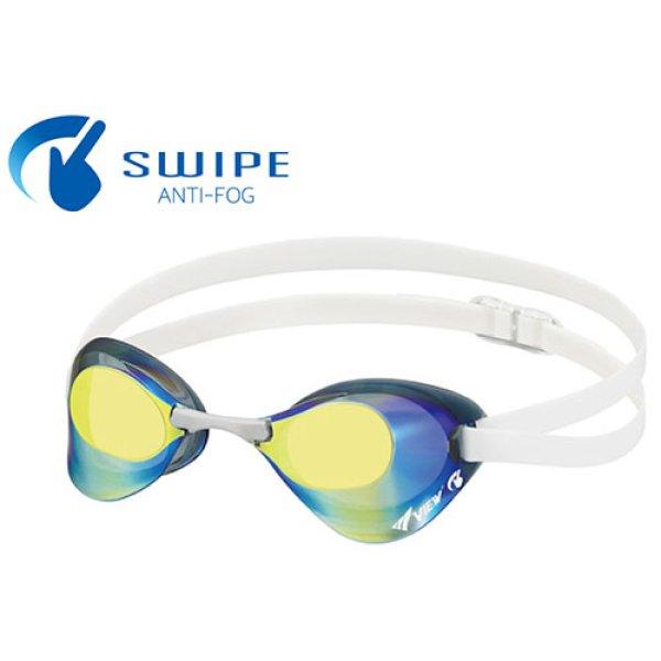 画像1: VIEW fina承認 SWIPE ANTI-FOG スイミングゴーグル  Blade V121SAM SKY (1)