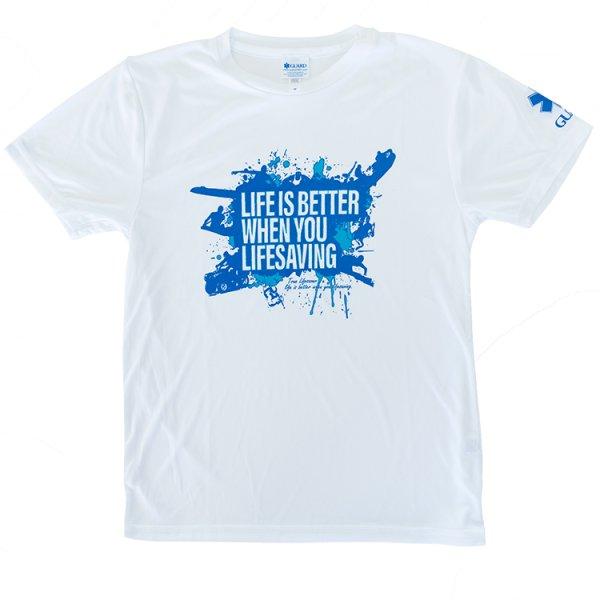 画像1: ライフセービングデザイン ドライTシャツ (1)