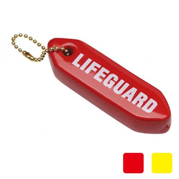 画像1: 本物のライフガードチューブのミニチュア版 かばんや鍵など大事なものに付けられるポールチェーンタイプ 【チューブキーホルダー】 (1)