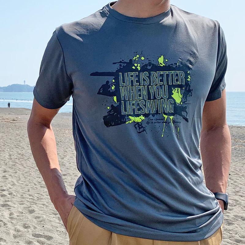 ライフセービングデザインTシャツが出来上がりました