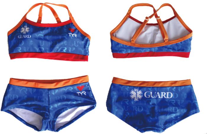 水着 レディース水着 女性水着 GUARD ガード ワークアウトビキニ ボックスパンツ セパレート TYR ティア スターオブライフ STAR OF LIFE ブルー