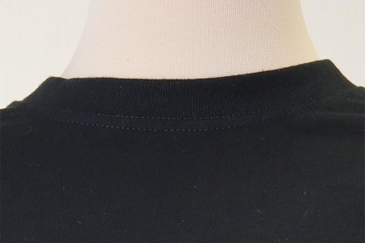 ロングティーシャツブラックの画像