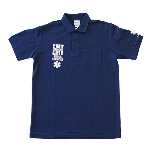 ポケット付き鹿の子ポロシャツ EMTデザイン