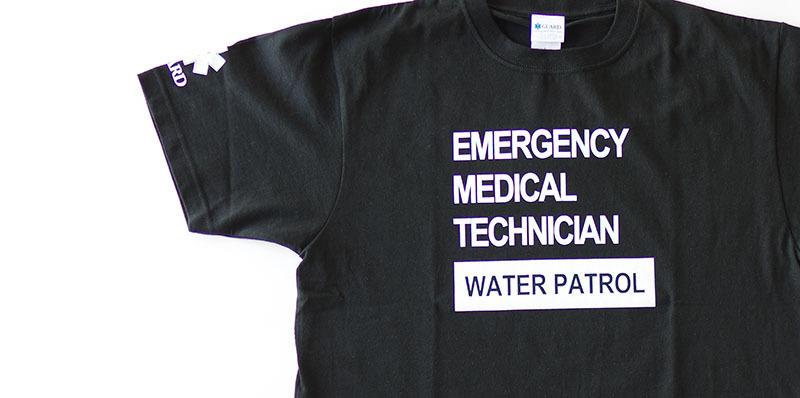GUARD 綿100% Tシャツ EMT WATERPATROLデザイン