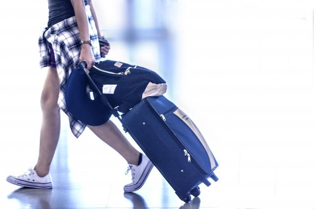 旅行している女性の写真